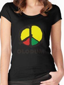 OLODUM shirt Women's Fitted Scoop T-Shirt
