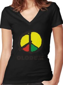 OLODUM shirt Women's Fitted V-Neck T-Shirt