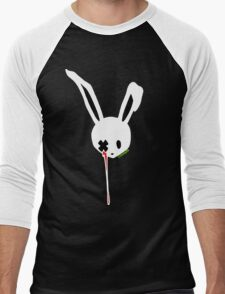 Creepy Bunny v2 Men's Baseball ¾ T-Shirt