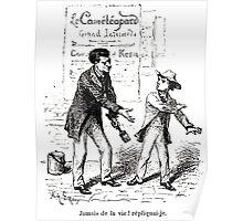 Achille Sirouy Mark Twain Les Aventures de Huck Huckleberry Finn illustration p212 Poster