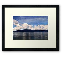 Clouds and Ocean Framed Print