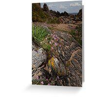 Rocks Sea and Sand Greeting Card