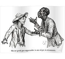 Achille Sirouy Mark Twain Les Aventures de Huck Huckleberry Finn illustration p099 Poster