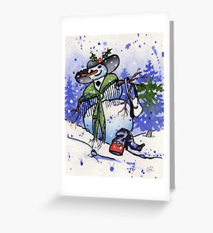 Snowboot Greeting Card