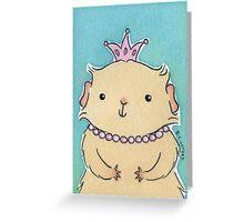 Pink Princess Guinea-pig Greeting Card