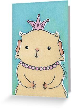 Pink Princess Guinea-pig by Zoe Lathey