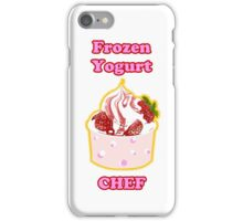 Frozen Yogurt Chef iPhone Case/Skin