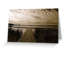Hasse Lake B&W, Alberta Canada Greeting Card