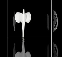 Elusive Encounter Black and White - iPhone Case by Yannik Hay