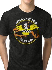 Gold Chocobo Taxi Co Tri-blend T-Shirt