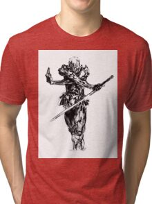 Grey fox draw from metal gear solid Tri-blend T-Shirt
