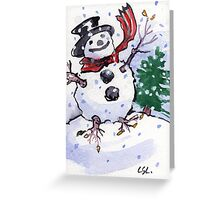 Snow Host Greeting Card