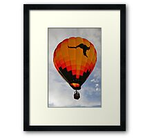 The Aussie Heir Balloon  Framed Print