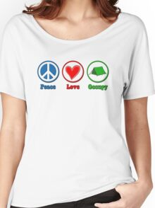 Peace Love Occupy Women's Relaxed Fit T-Shirt