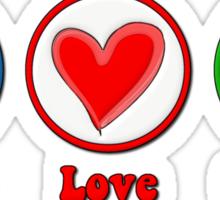 Peace Love Occupy Sticker