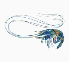 Blue Shrimp Art by Sharon Cummings Kids Clothes