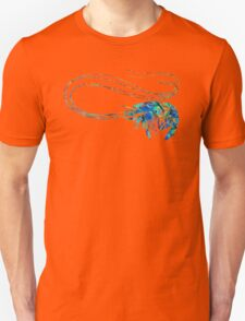 Blue Shrimp Art by Sharon Cummings T-Shirt