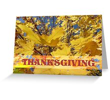Yellow Fall Leaves Thanksgiving Greeting Card