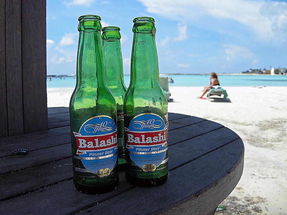 Tipping A Few at Baby Beach  by John  Kapusta
