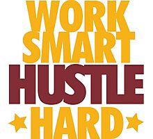 Work Smart Hustle Hard- Cavs Photographic Print