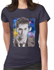Doctor Who No.10 - David Tennant 1 Womens Fitted T-Shirt