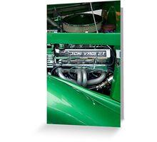 Green Machine Greeting Card
