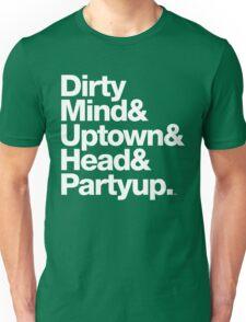 Homage to Prince Dirty Mind Album & Tracks  Unisex T-Shirt