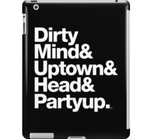 Homage to Prince Dirty Mind Album & Tracks  iPad Case/Skin