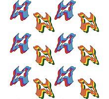 Retro Beagle Pattern Photographic Print
