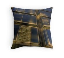 Reflective Towers Throw Pillow