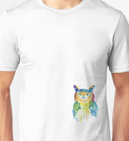 Watercolour Owl Unisex T-Shirt