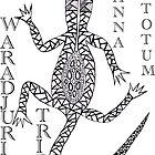 Waradjuri Goanna Totum by LESLEY B