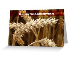 Golden Grain Thanksgiving Greeting Card