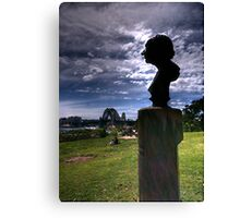 I'm Hans Christian Andersen, and why am I in Sydney ? - Observatory Hill, Sydney Australia - The HDR Experience Canvas Print