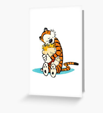 Calvin and hobbes Love you Greeting Card