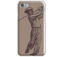 Ben Hogan - pencil drawing of the great golf master iPhone Case/Skin