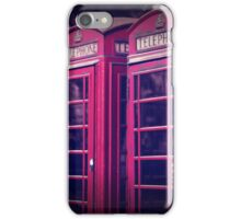 old red london telephone boxes iPhone Case/Skin