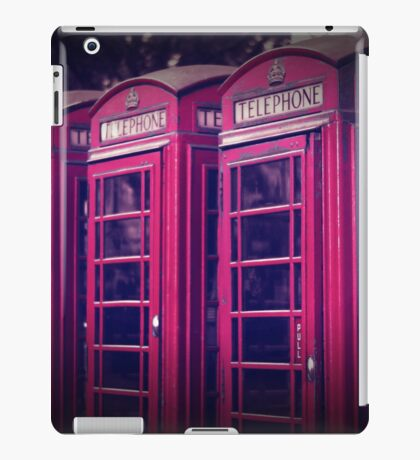 old red london telephone boxes iPad Case/Skin