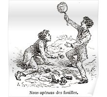 Achille Sirouy Mark Twain Les Aventures de Huck Huckleberry Finn illustration p247 Poster