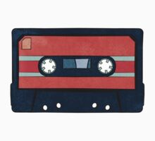 Red Cassette Tape One Piece - Long Sleeve