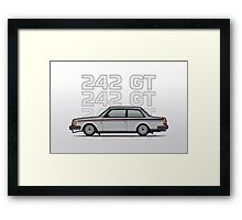 Volvo 242 GT 200 Series Coupe Framed Print