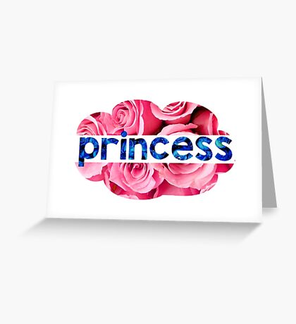 Flower princess of the roses Greeting Card