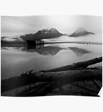 Old Valdz Townsight  - Alaska  Poster