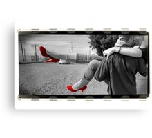 Red Shoes -on film Canvas Print