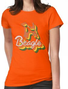 Retro Beagle Womens Fitted T-Shirt