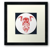 Spider-Man 2099 Segmented Logo (white) Circle Framed Print