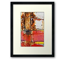 Crusty with red Framed Print