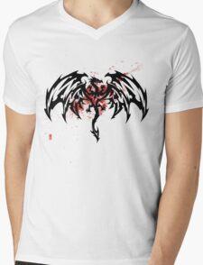 Tribal Dragon Mens V-Neck T-Shirt
