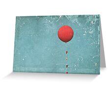 Big Red Balloon Greeting Card