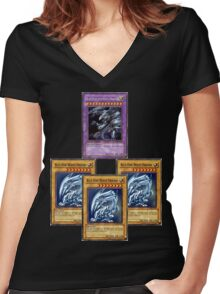 Bue-Eyes Ultimate Dragon Women's Fitted V-Neck T-Shirt
